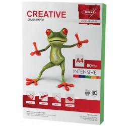 Бумага цветная А4 100л. CREATIVE Интенсив.- зеленая  (БИрr-100з)