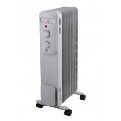 Масляный радиатор Midea MOH 3001 Silver 1500Вт, 17кв.м, 7 секций, регул. темп., термостат