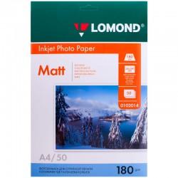 Бумага Lomond 180 г/м2, A4, матовая, 50л. (0102014)