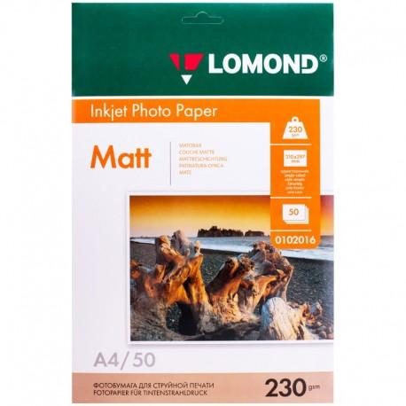 Бумага Lomond 230 г/м2, A4, матовая, 50л. (0102016)