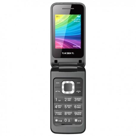 "Сотовый телефон Texet TM-204 Black/Antracite (2sim/2.4""/240*320/-/microSD/-/Bt/800мАч)"