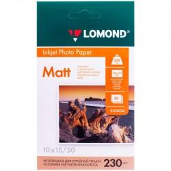 Бумага Lomond 230 г/м2, 10x15, матовая, 50л. (0102034)