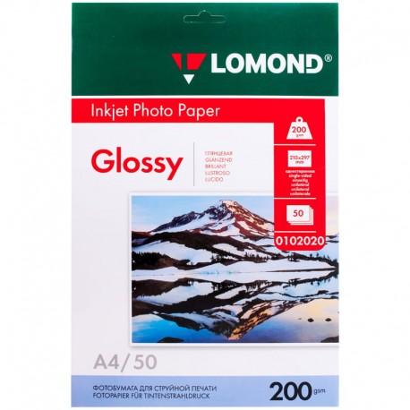 Бумага Lomond 200 г/м2, А4, глянцевая, 50л. (0102020)