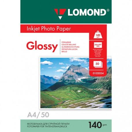 Бумага Lomond 140 г/м2, А4, глянцевая, 50л. (0102054)