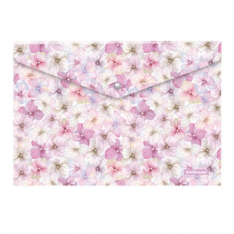 "Папка-конверт на кнопке Erich Krause А4 ""Phloxes"" с рисунком (47060)"