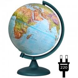 Глобус физико-политический рельефный Глобусный мир, 25см, с подсветкой 10182