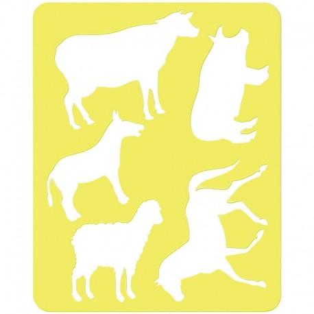 "Трафарет-раскраска контурный, Стамм ""Домашние животные"" ТТ92"