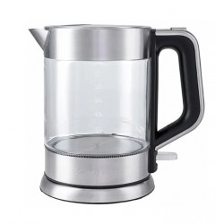 Чайник Kitfort КТ-617 Silver (2200Вт,1.5л,стекло,закрытая спираль)
