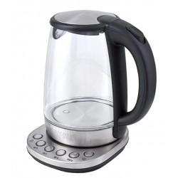 Чайник Kitfort КТ-618 Silver (2200Вт,1.7л,стекло,закрытая спираль)