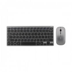 Комплект (клавиатура+мышь) Qumo Paragon K15/M21 Silver/White беспроводной