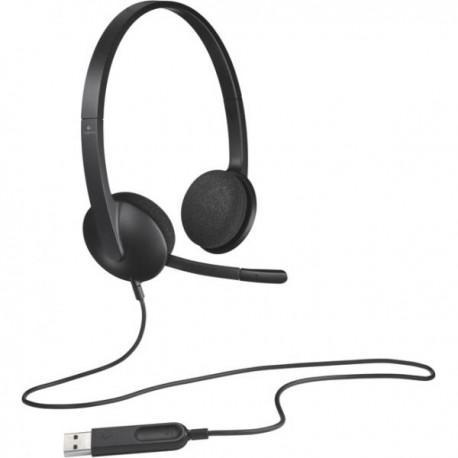 Гарнитура Logitech H340 (981-000475) накладные, 20Ом, 115дБ, кабель 1.8м, Black