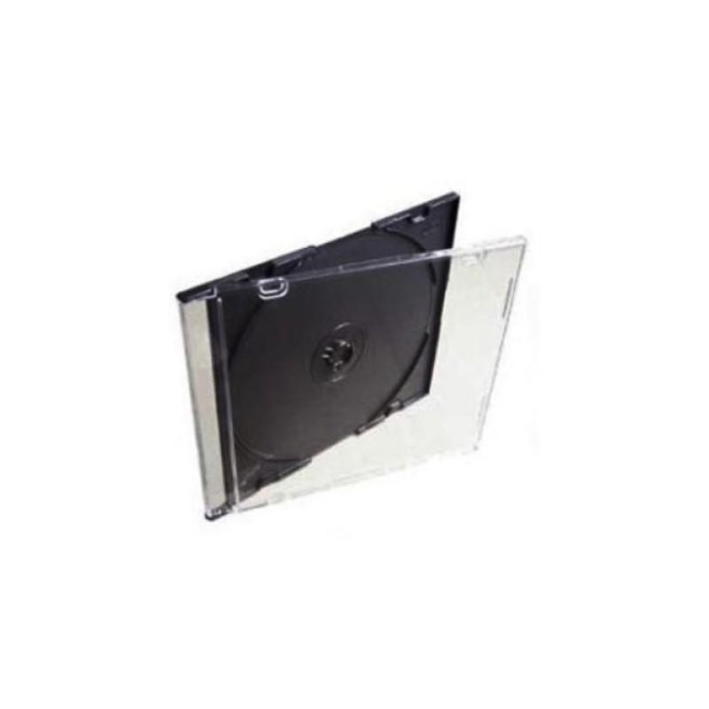 Коробка на 1CD/DVD Slim чёрная вставка