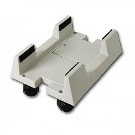 Подставка под системный блок BURO BU-CS3AL пластмассовая,на колёсиках,регулировка по ширине