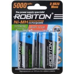 Аккумуляторы Ni-MH D Robiton 5000mAh 2шт упак.