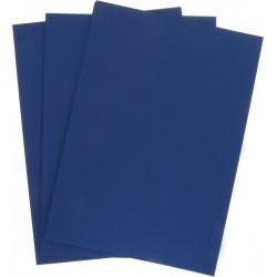 Обложка для переплета картон кожа А4, 230г/м2, синие (100) (3913)
