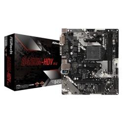 Материнская плата ASRock B450M-HDV R4.0 (SocketAM4,AMD B450,mATX,2DDR4,M.2,4SATA3,6USB3.1,SVGA,DVI,HDMI,PC3200)