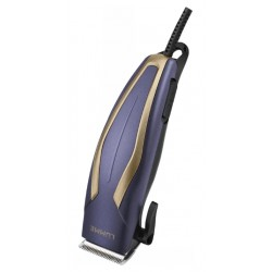Машинка для стрижки Lumme LU-2514 Blue/gold длина стрижки 3-12мм, 4 насадки, от сети