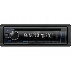 Автомагнитола Kenwood KDC-130UB 1DIN, 4x50Вт, MP3, CD, FM, USB, AUX, съемная панель