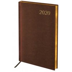 """Ежедневник BRAUBERG  A5  2020г. """"Iguana"""", коричневый  (129700)"""