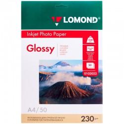 Бумага Lomond 230 г/м2, A4, глянцевая, 50л. (0102022)