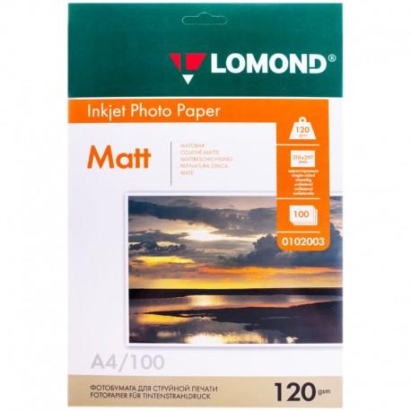 Бумага Lomond 120 г/м2, А4, матовая, 100л. (0102003)