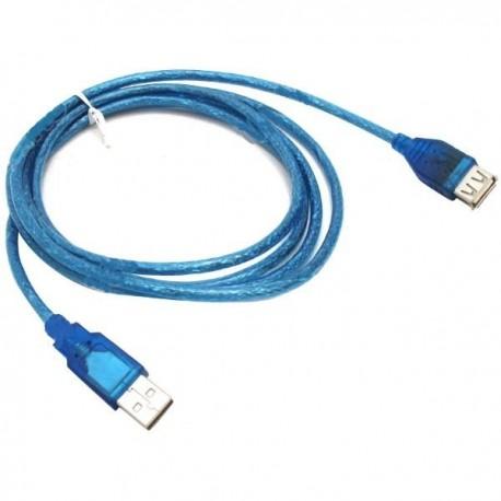 Кабель удлинительный USB2.0 Am-Af  1.8м Telecom, черный