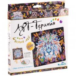 """Алмазная мозаика Origami """"Арт-терапия. Алмазные узоры. Белый лев"""" 03217"""