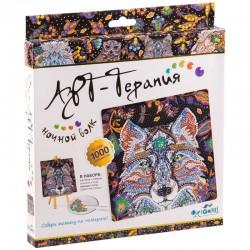 """Алмазная мозаика Origami """"Арт-терапия. Алмазные узоры. Ночной Волк"""" 03214"""