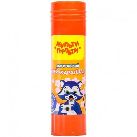 """Клей-карандаш Мульти-Пульти 15гр. """"Енот в Японии"""", с цветным индикатором GS 13355"""