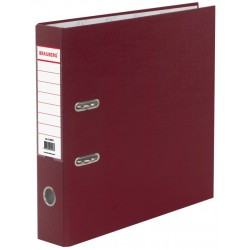 Папка-регистратор 70мм. BRAUBERG бордовая (220892)
