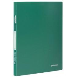"""Папка с пружинным скоросшивателем BRAUBERG """"Стандарт"""" зеленая (221631)"""