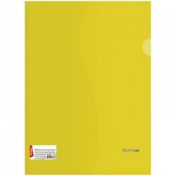 Папка-уголок А4 180мкм. BERLINGO прозрачная, желтая (AGp 04305)