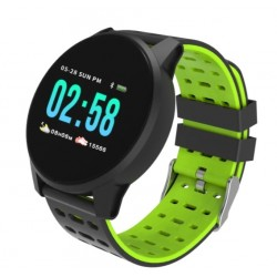 "Смарт-часы Qumann QSW 01 Black+Green 1.3""/And,iOS/Bluetooth 4.0/IP67/180mAh"