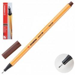 Ручка капиллярная STABILO коричн. 88/45 0,4мм