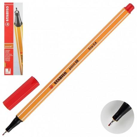 Ручка капиллярная STABILO красный 88/40 0,4мм