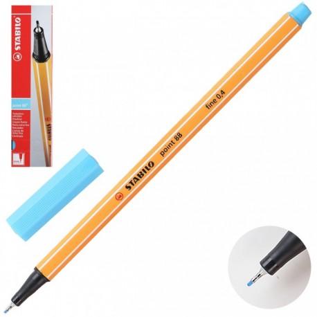 Ручка капиллярная STABILO лазурь 88/57 0,4мм