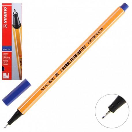 Ручка капиллярная STABILO синий 88/41 0,4мм