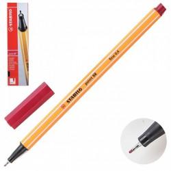 Ручка капиллярная STABILO темно красный 88/50 0,4мм