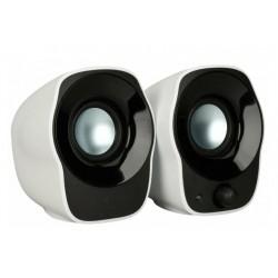 Актив.колонки 2.0 Logitech Z120 Bох (980-000513) 1.2Вт, питание от USB, пластик, Black/White