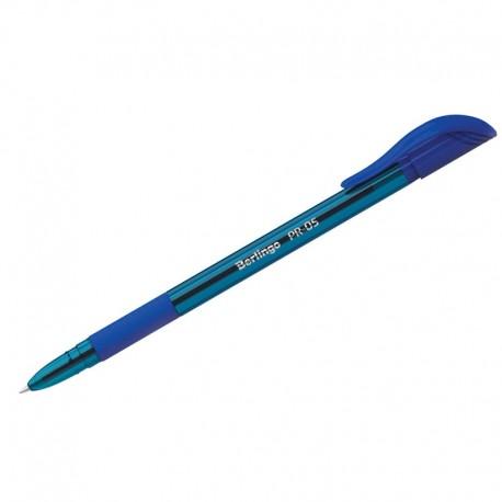 """Ручка шариковая BERLINGO """"PR-05"""" 0,5мм., грип, синяя (CBp 50362)"""