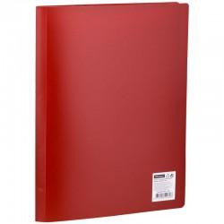 Папка с 20 вкл. OfficeSpace 17мм. 400мкм. красная (F20L3 280)