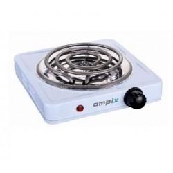 Плита настольная Ampix AMP-8005 White 1000Вт, конфорок-1, упр. механическое