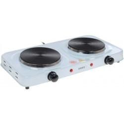 Плита настольная Ampix AMP-8008 White 2000Вт, конфорок-2, упр. механическое
