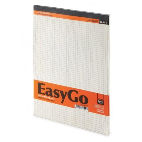 Блокнот А4 60л., подложка, бежевый внутр. блок, клетка, Альт, EASYGO, 3-60-485