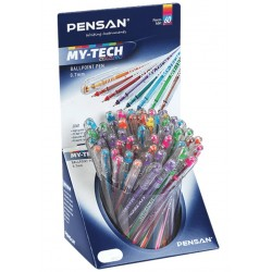 """Ручка шариковая PENSAN """"My-Tech Colored"""" цвет ассорти, 0,5мм, дисплей, 2240"""