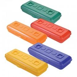 """Пенал-футляр СТАММ """"Премиум"""", пластиковый, цвет ассорти, ПН14"""