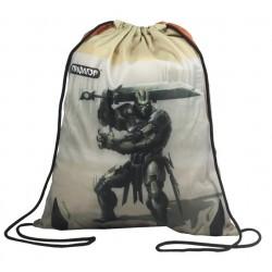 Сумка для обуви ПИФАГОР для нач.школы, Железный воин, коричневая, 42*34 см, 226523