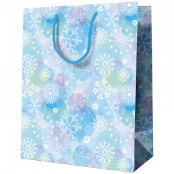 "Пакет подарочный новогодний ""Snowflakes"" 18*23*10см. YCm 21376"