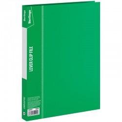 """Папка с боковым прижимом BERLINGO """"Standard"""" 17мм, 700мкм, с карманом, зеленая (MM2337)"""