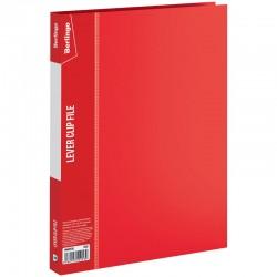 """Папка с боковым прижимом BERLINGO """"Standard"""" 17мм. с карманом, красная (MM2338)"""